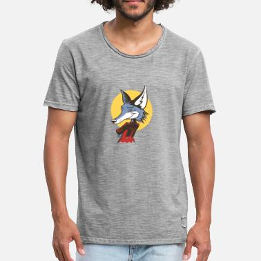 Mr Fox - Mannen Vintage T-shirt