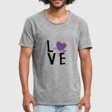 Love Knitting - Men's Vintage T-Shirt