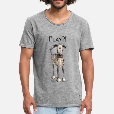 Spanish Galgo Play Galgo Espanol - Dog - Spanish Greyhound  - Men's Vintage T-Shirt