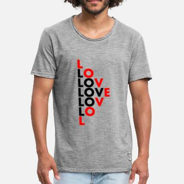 Stagger Staggered love motif - Men's Vintage T-Shirt