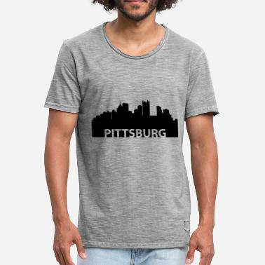 Pittsburgh Pittsburgh Pittsburgh skyline - Men's Vintage T-Shirt
