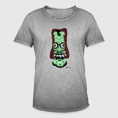 Enillo hoofd Comicstyle Psychedelic - Mannen Vintage T-shirt
