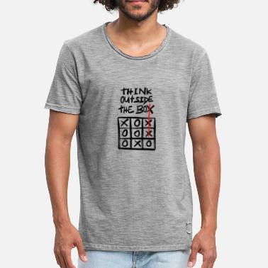 Noughts think outside the box - Men's Vintage T-Shirt
