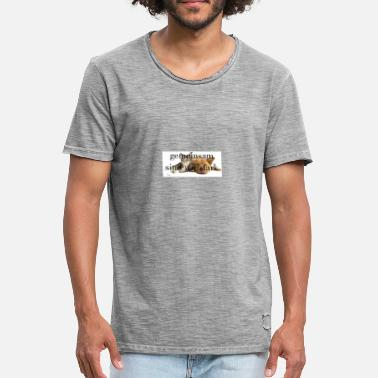 Wouff Chat, chien - T-shirt vintage Homme