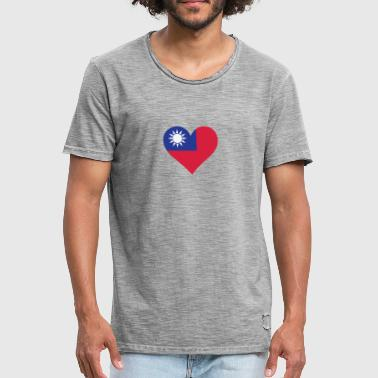 Chinese Revolution A Heart For Taiwan - Men's Vintage T-Shirt