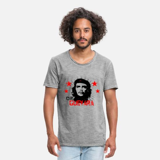 Officialbrands T-Shirts - Che Guevara Stars - Men's Vintage T-Shirt vintage gray