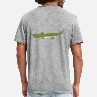 Crocodile Vector crocodile - Men's Vintage T-Shirt