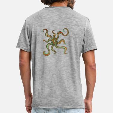 Arthawk Abstract octopus - Men's Vintage T-Shirt