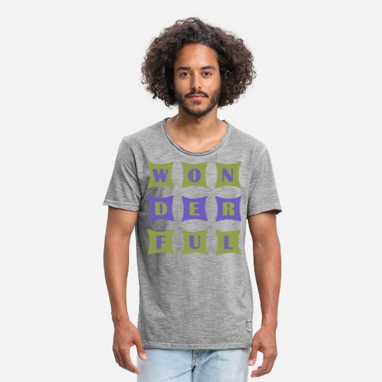 Gift Idea T-Shirts - Wonderful - Men's Vintage T-Shirt vintage gray