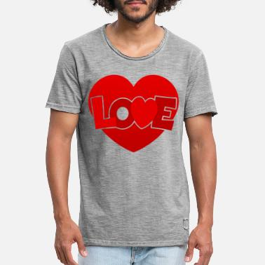 Love With Heart Love with heart - Men's Vintage T-Shirt