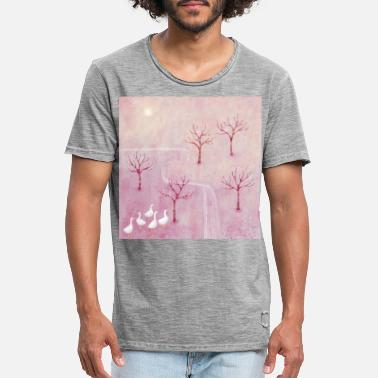 Orchard Geese in the Orchard - Men's Vintage T-Shirt