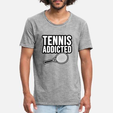 Elite Tennis Addicted. Tennis Süchtig - Männer Vintage T-Shirt