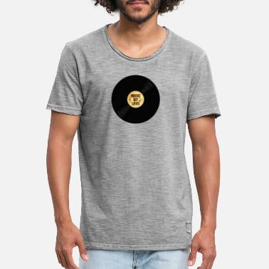 Vinyl Music my love - Männer Vintage T-Shirt