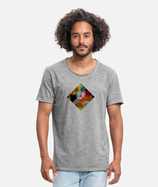 Rhombus T-Shirts - Abstract rhombus - Men's Vintage T-Shirt vintage grey