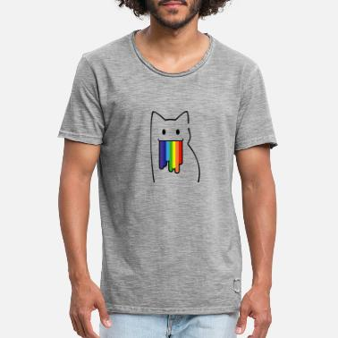 Nyan Cat Per Geek: Nyan Cat, Pop-Tart Cat, Rainbow Colors - Maglietta vintage uomo