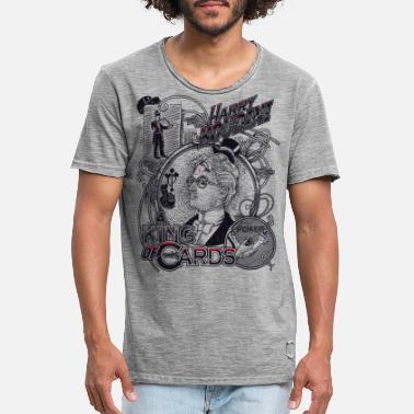 Retro harry houdini poker - Men's Vintage T-Shirt