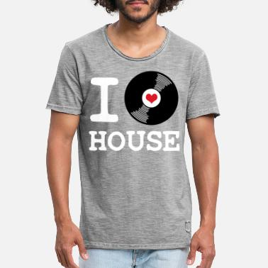 I Love House I Love House - Men's Vintage T-Shirt