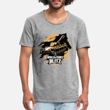 Tanks World of Tanks Blitz - Tanks Go Wild - Men's Vintage T-Shirt