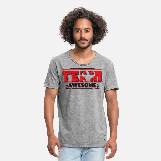 Team T-Shirts - TEAM AWESOME - Men's Vintage T-Shirt vintage gray