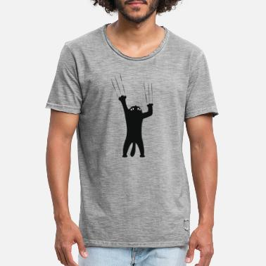 Scratching Scratch! Cat! Gift kitten idea babe - Men's Vintage T-Shirt