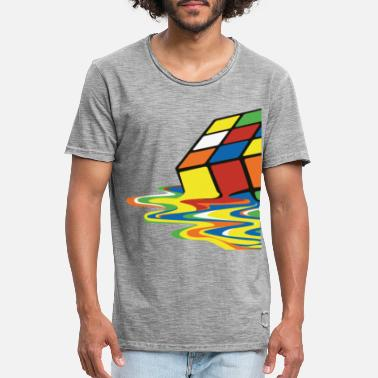 Rubik's Cube Melting Cube - Men's Vintage T-Shirt
