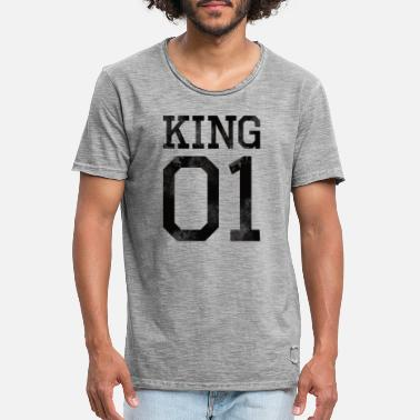 Partnerlook King 01 svart används look shirt - Vintage T-shirt herr