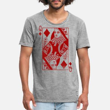 Carreaux Check Queen Red - T-shirt vintage Homme