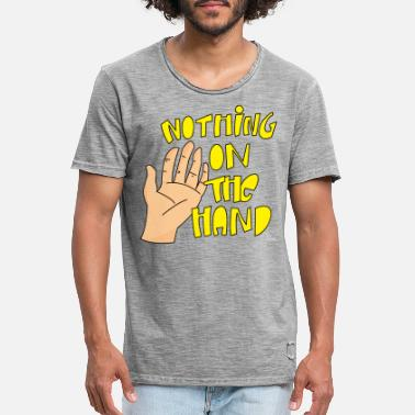 Cartoon Nothing on the hand - Mannen vintage T-shirt