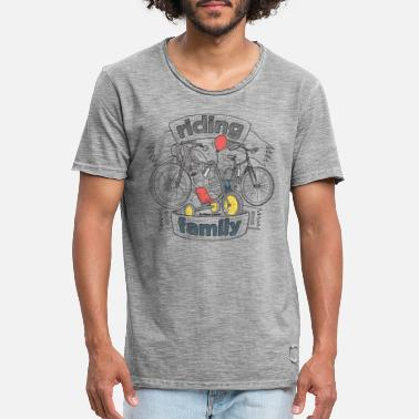 Bikes And Cars Collection riding family - Männer Vintage T-Shirt