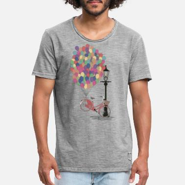 Vintage Love to Ride my Bike with Balloons - T-shirt vintage Homme