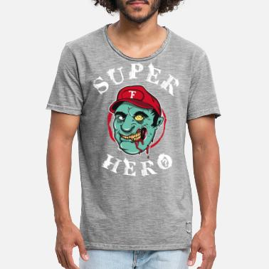 Gaming Collection Superhero zombie - Vintage T-shirt mænd