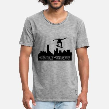 Urban Skyline Urban Skaters Skyline City - Men's Vintage T-Shirt