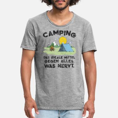 Kamperen Funny Camping Holiday Camping Nature Fun Gift - Mannen vintage T-shirt