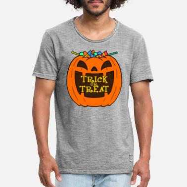 Trick Or Treat Ghosts Halloween Trick or Treat Pompoen - Mannen vintage T-shirt