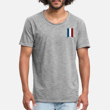 Bainderas France Flag Pray For Paris - Men's Vintage T-Shirt