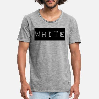 Label White white label saying font no racism - Men's Vintage T-Shirt
