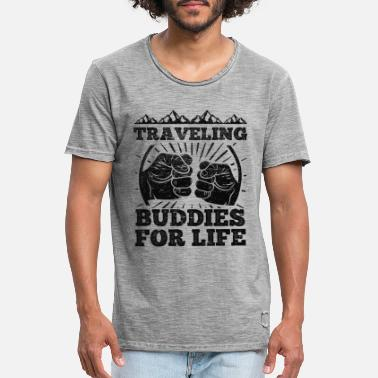 Best Friends Traveling Buddies For Life - Men's Vintage T-Shirt