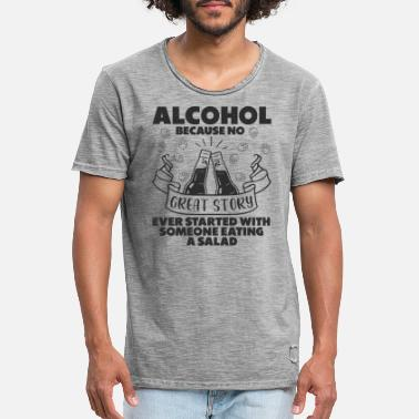 Liquor Beer Lover Alcohol Drinking Beer Party Stories - Men's Vintage T-Shirt