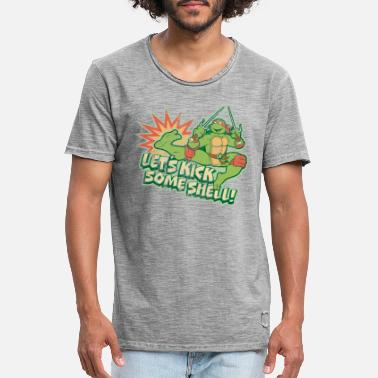 TMNT Turtles Raphael Let's Kick Some Shell - Vintage T-shirt herr