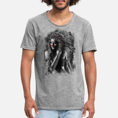 Indiaans Indiaas - Mannen vintage T-shirt