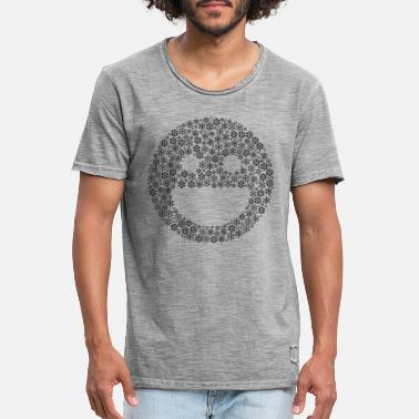 Smile Sneeuwvlokken word cloud in lachvorm (zwart) - Mannen vintage T-shirt