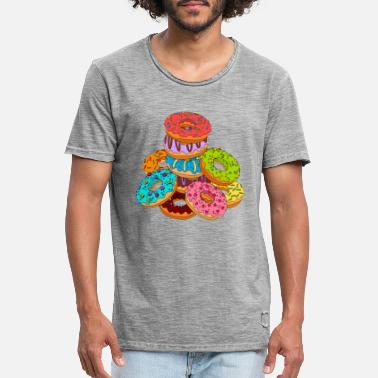 Food Collection donut - Mannen vintage T-shirt
