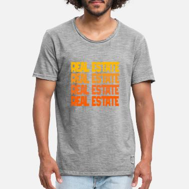 Real Estate Real Estate Real Estate Real Estate - Men's Vintage T-Shirt