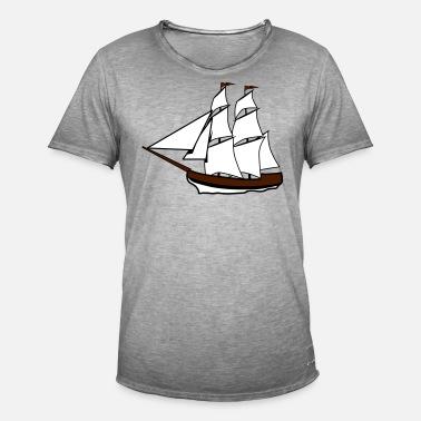 Vela De Spreadshirt Antiguo Hombre Camiseta Velero Barco 4pan8q4wF