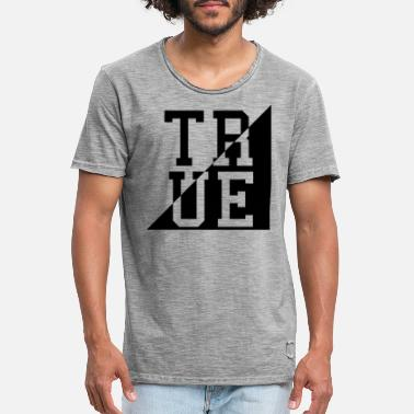 True Metal TRUE CORNER - Vintage T-skjorte for menn