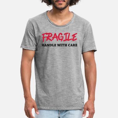 fragile Vintage T skjorte for menn | Spreadshirt