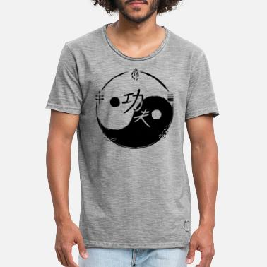 Chinese Ying and Yang Kung Fu - Men's Vintage T-Shirt