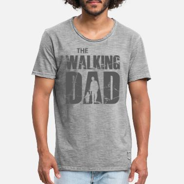 The Walking Dad (grijs) - Mannen vintage T-shirt