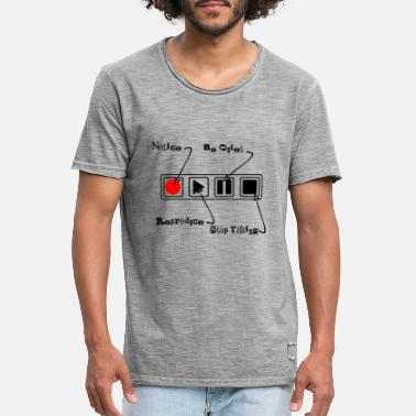 Icon Music Controlbar Icons - Funny Music Controllable - Men's Vintage T-Shirt