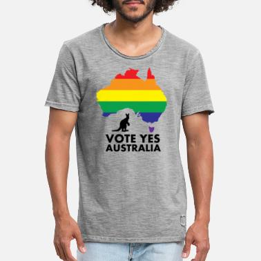 Vote Yes Australia Equality VOTE YES AUSTRALIA - Men's Vintage T-Shirt